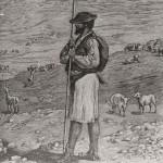 El Pastor de Mogán - Grabado de Paul Merwart - Fedac.org - Mogán - Gran Canaria - Archipiélago Canario (1890).