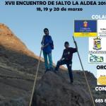 Cartel del XVII Encuentro Insular de Salto del Pastor Canario 'La Aldea 2016′ - Jurria El Salem - La Aldea de San Nicolás - Gran Canaria - Islas Canarias (Del 18 al 20 de Marzo de 2016).
