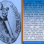 Anuncio de la Convocatoria de la Asamblea General Ordinaria 2016 de la Federación de Salto del Pastor Canario - Grupo de Coordinación de la F.S.P.C. - Guía de Gran Canaria - Gran Canaria - Islas Canarias (Sábado 18 de Junio de 2016).