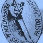 Dibujo en Azul para un Sello de la Federación de Salto del Pastor Canario – Eduardo González – Gran Canaria – Islas Canarias (2011).