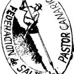 Dibujo en Blanco y Negro para un Sello de la Federación de Salto del Pastor Canario - Eduardo González - Gran Canaria - Islas Canarias (2011).