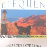 Cartel del XXIV Encuentro Nacional de Salto del Pastor Canario 'Efequén 2016' - Federación de  Salto del Pastor Canario - Fuerteventura - Islas Canarias (Del 8 al 11 de Diciembre de 2016).