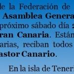 Convocatoria de la Asamblea General Ordinaria 2018 de la Federación de Salto del Pastor Canario – Sábado día 21 de Julio de 2018 – Guía de Gran Canaria – Gran Canaria – Archipiélago Canario.