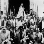 Pastores con Astas junto a la Virgen de los Reyes - Facebook del Pastor Don Aurelio Cabrera Acosta - Frontera - El Hierro - FSPC - Archipiélago Canario (Siglo XX).
